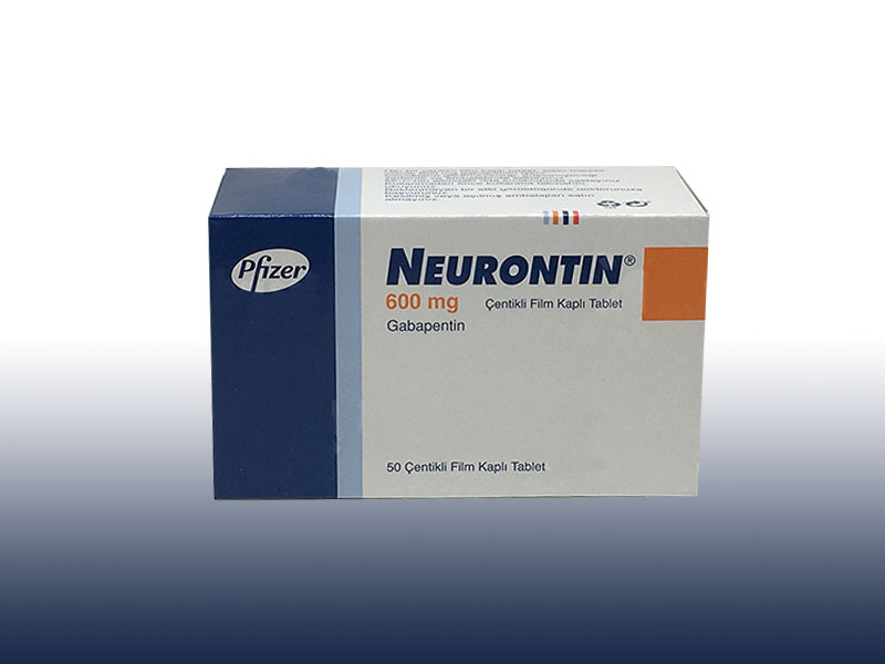 NEURONTIN 600 mg 50 çentikli film tablet kutusunun resmi